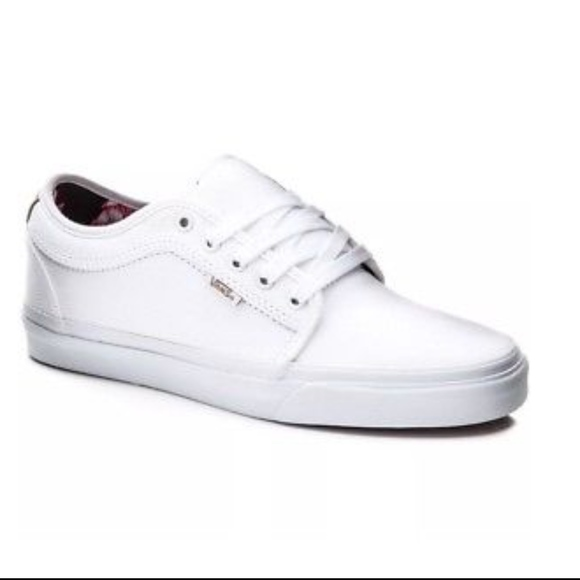 5fd7238d02f Vans Chukka Low Aloha White Twill Shoes+